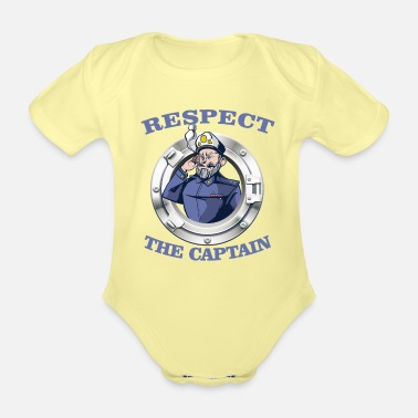 Cruise Sailing sail sailor ship yacht CAPTAIN sailboat - Organic Short-Sleeved Baby Bodysuit