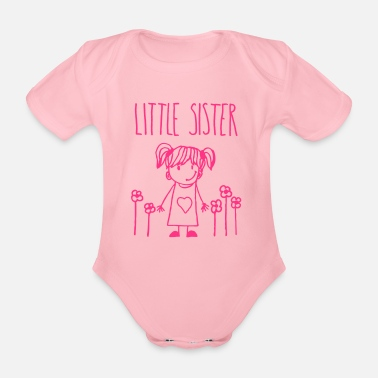 Set Little Sister - Baby Bio-Kurzarm-Body