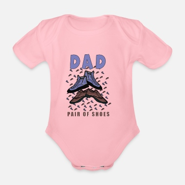 dad father dad father's day gift - Organic Short-Sleeved Baby Bodysuit