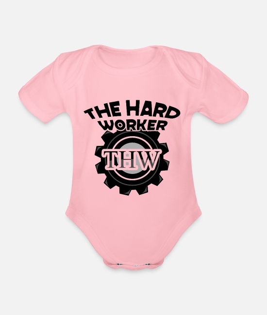 Design Baby Bodysuits - twh the hard worker motivational design shirt gifts s - Organic Short-Sleeved Baby Bodysuit light pink