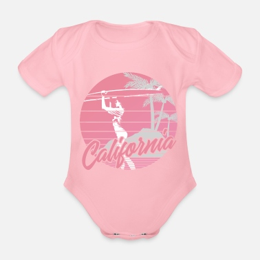 California Surfergirl - Organic Short-Sleeved Baby Bodysuit