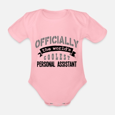 Official-person personal assistant officially the worlds - Organic Short-Sleeved Baby Bodysuit