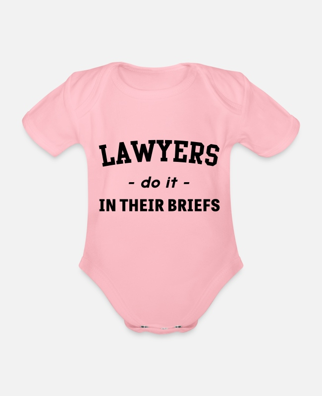 Do It Baby Bodysuits - Lawyers Do It In Their Briefs - Organic Short-Sleeved Baby Bodysuit light pink