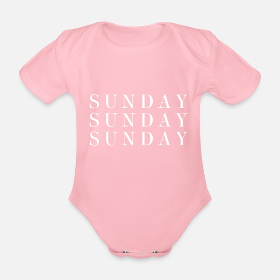 Stylish Baby Clothes - Sunday - Organic Short-Sleeved Baby Bodysuit light pink