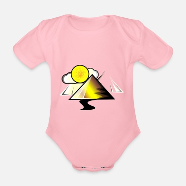 Pyramid pyramid - Organic Short-Sleeved Baby Bodysuit
