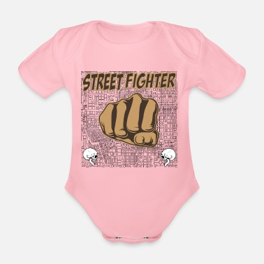 Street Fighter street fighters - Organic Short-Sleeved Baby Bodysuit