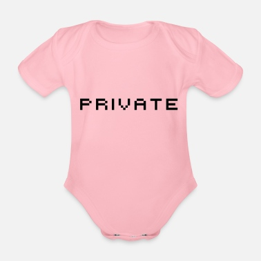 Privateer private - Organic Short-Sleeved Baby Bodysuit
