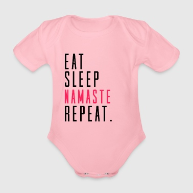 Eat Sleep Namaste Yoga Fitness Sports idee - Baby bio-rompertje met korte mouwen