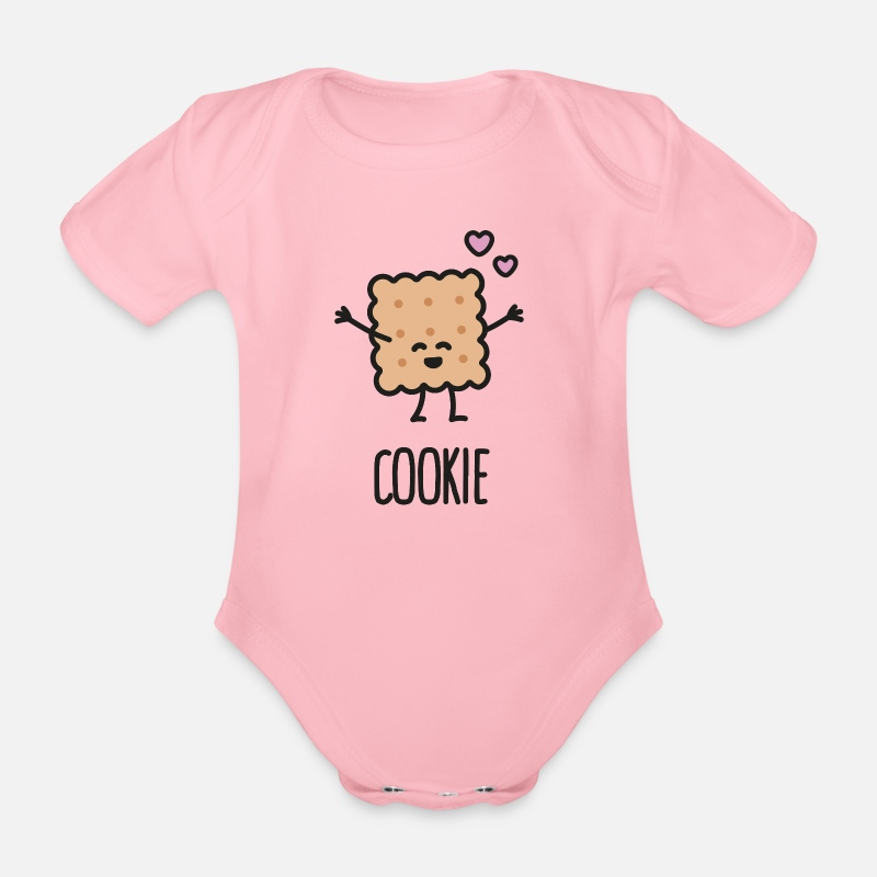 Bff Baby Clothing - Cookie - Best friends forever (BFF) - Short-Sleeved Baby Bodysuit light pink