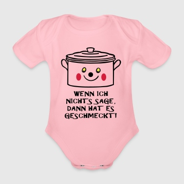 Tasty It was tasty! - Organic Short-sleeved Baby Bodysuit