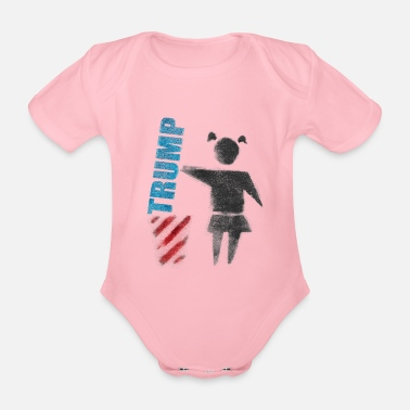 Trump No to Trump (dump Trump) - Organic Short-Sleeved Baby Bodysuit