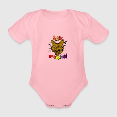 CATS | JAW DROPPING - Organic Short-sleeved Baby Bodysuit