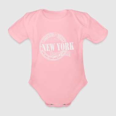 Stamp NewYork - Organic Short-sleeved Baby Bodysuit