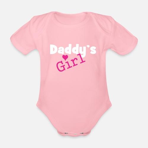 La fille de papa - fille drôle corps bébé bébé - Body bébé bio manches  courtes. Devant cce1a820c20