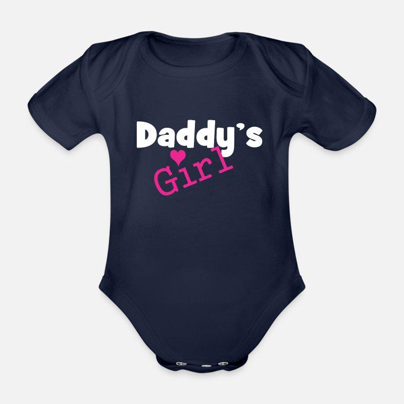 La fille de papa - fille drôle corps bébé bébé Body bébé bio manches  courtes  d3d089d1c12