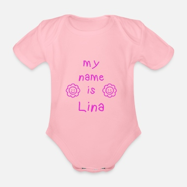 Lina LINA MY NAME IS - Body bébé bio manches courtes