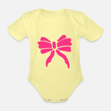 Occasion Elegant bow / bow party occasion - Organic Short-Sleeved Baby Bodysuit