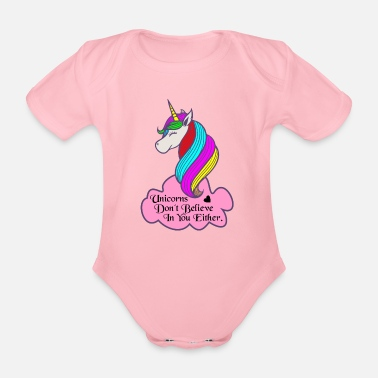 Mythology The Unicorns and Mythology - Organic Short-sleeved Baby Bodysuit