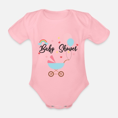 baby shower baby party - Organic Short-Sleeved Baby Bodysuit