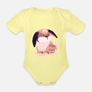 Illustration Illustration - bunny - Organic Short-Sleeved Baby Bodysuit