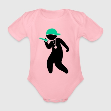 Hiphop Rapper - Organic Short-sleeved Baby Bodysuit