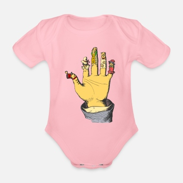Puppet Theatre glove puppet - Organic Short-sleeved Baby Bodysuit