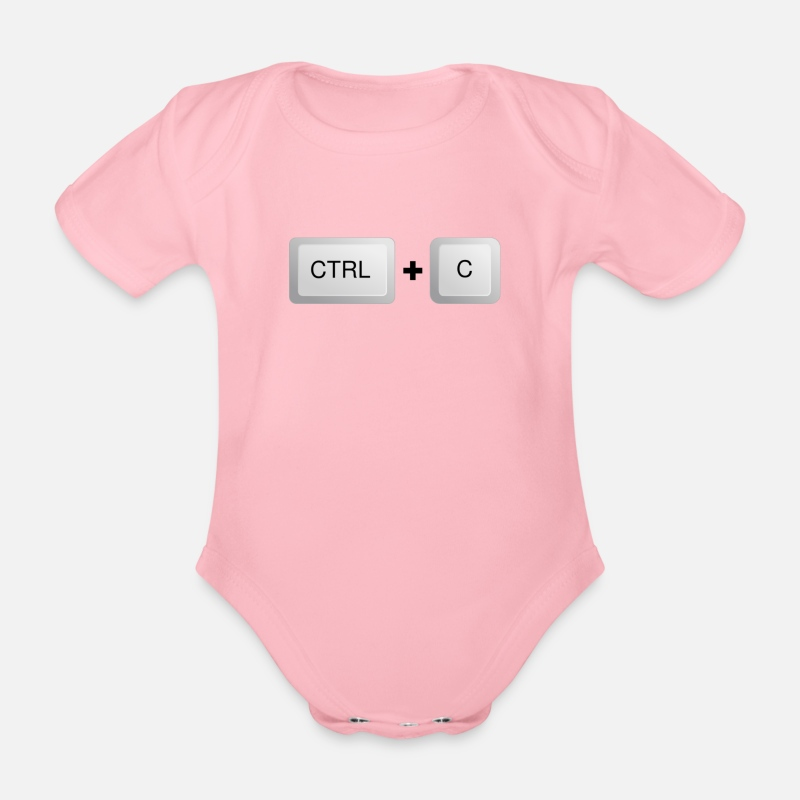 Twins Baby Clothing - Control + C - Short-Sleeved Baby Bodysuit light pink