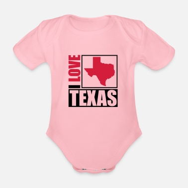 I Love i_love_texas_py2 - Organic Short-Sleeved Baby Bodysuit