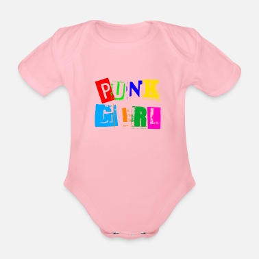 Punk Girl Punk girl - Organic Short-Sleeved Baby Bodysuit