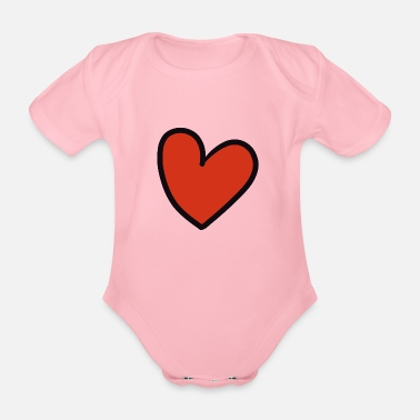 Crook crooked heart - Organic Short-Sleeved Baby Bodysuit