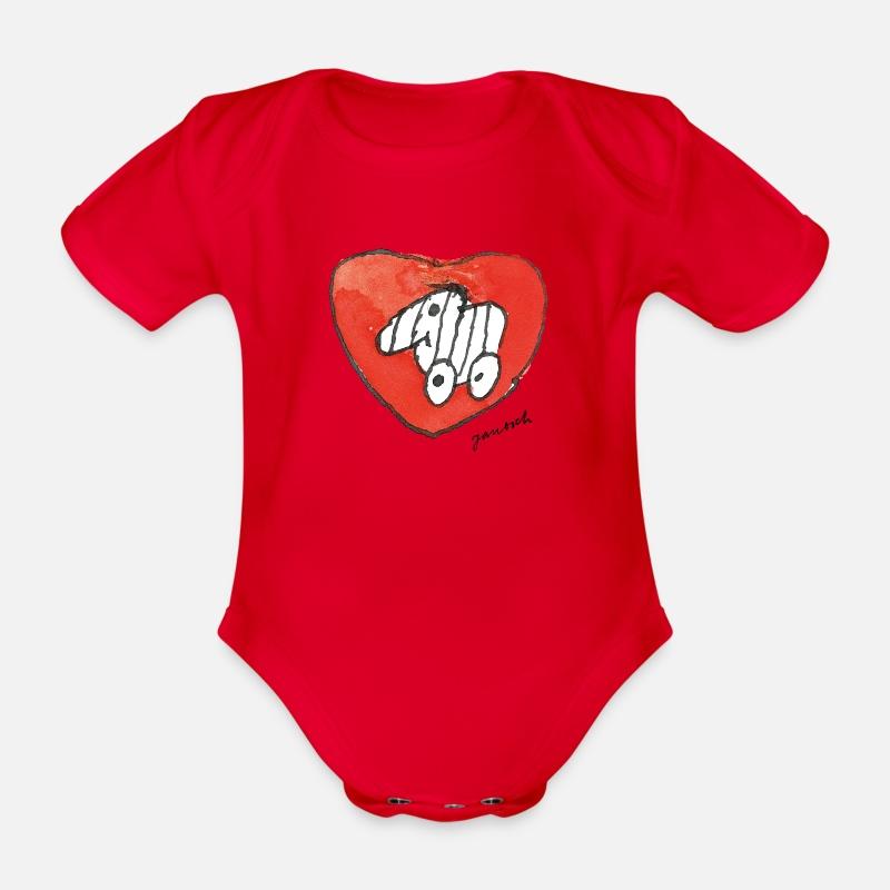 Janosch Große Tigerente Mit Herz Baby Bio-Kurzarm-Body von Spreadshirt®