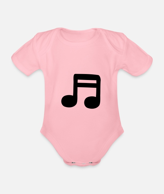 Guitar Baby Bodysuits - 2 sixteenths - Organic Short-Sleeved Baby Bodysuit light pink