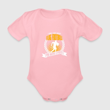 I Only Care About Flag Football - Organic Short-sleeved Baby Bodysuit