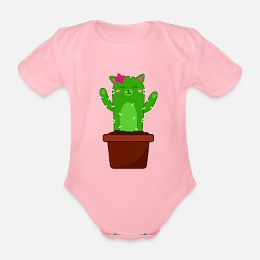 Catus Big Catus - Organic Short-Sleeved Baby Bodysuit