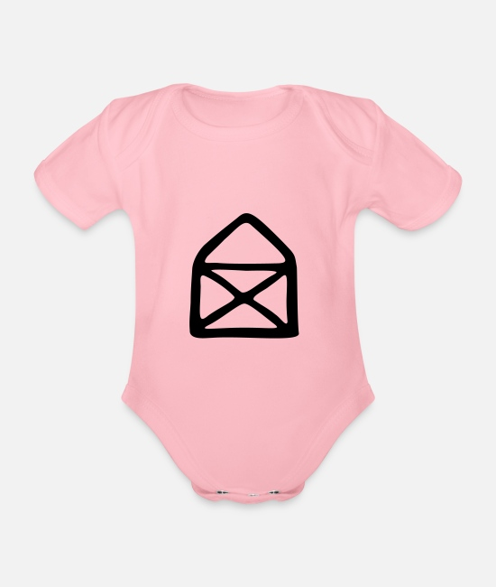 Drawing Baby Bodysuits - House of Nicholas - Organic Short-Sleeved Baby Bodysuit light pink