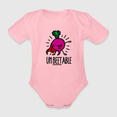 Unbeetable unbeatable beet unschlagbare Rote Bete - Baby Bio-Kurzarm-Body