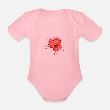Blood Splatter Blood Spatter, Horror, Splatter, Halloween - Organic Short-Sleeved Baby Bodysuit