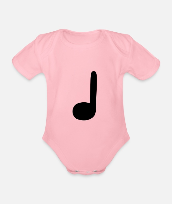 Guitar Baby Bodysuits - crotchet - Organic Short-Sleeved Baby Bodysuit light pink