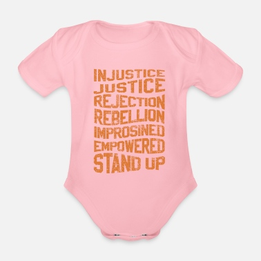 Injustice INJUSTICE REBELLION EMPOWERED - Organic Short-Sleeved Baby Bodysuit