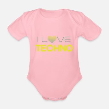 Techno I Love Techno - Body neonato a manica corta