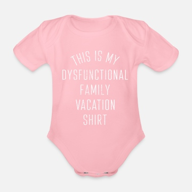 Conflict Family vacation - Organic Short-sleeved Baby Bodysuit