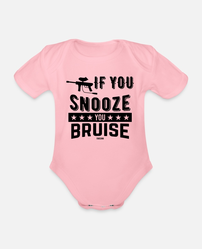 Kleur Baby bodies - If You Snooze You Bruise marker fun - Rompertje met korte mouwen light roze