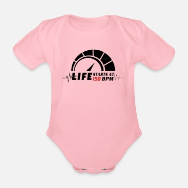 Trance Beats per minute - Organic Short-Sleeved Baby Bodysuit