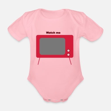 Television old television - Organic Short-sleeved Baby Bodysuit
