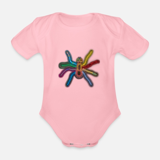 Filigree Baby Clothes - Colored phobia - Organic Short-Sleeved Baby Bodysuit light pink