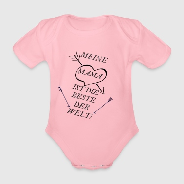 BEST MUM OF THE WORLD 2 - Organic Short-sleeved Baby Bodysuit
