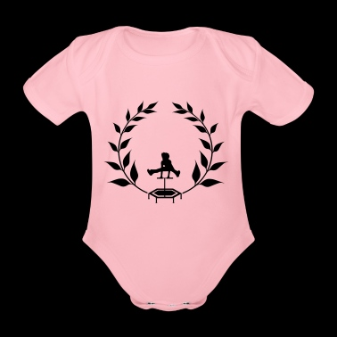 Wreath Jumping - Jumpingfitness - Organic Short-sleeved Baby Bodysuit