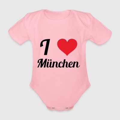 i love munich - Organic Short-sleeved Baby Bodysuit