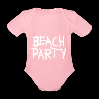 BEACHPARTY_PINSEL - Økologisk kortermet baby-body