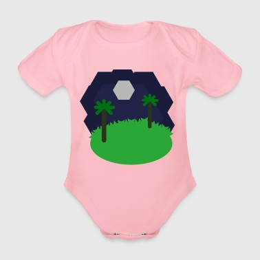 Landschaft Hexagonal - Baby Bio-Kurzarm-Body